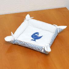 wunderschöner  Brotkorb hellblau, Baumwolle  ca 30x30 cm NEU