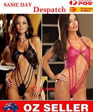Black Pink Lady Lace Sexy Women's Lingerie Babydoll Underwear + T-back Nightwear