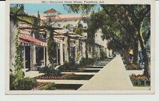 Maryland Hotel Shops, Pasadena, Cal. Ca. California.