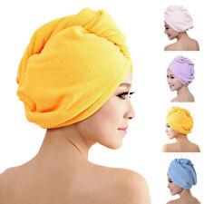 Women Large Quick-Dry Hair Turban Towel Hat Hair Wrap BathCap Microfiber Kitchen