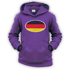 Bandera de Alemania Niños Sudadera Con Capucha-x9 Colores-Deutschland Copa de fútbol Euro Car Alemania
