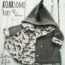 Infant Newborn Boys Warm Outerwear Hooded Coat Winter Jacket Clothes Dinosaur