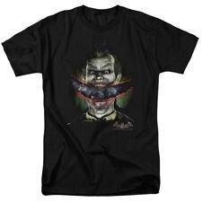 Batman Arkham Asylum Joker Crazy Lips Evil Smile Licensed T-Shirt S-3XL