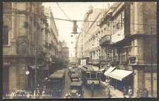 Mexico Postcard Calle 5 De Febrero Tramway To USA 1935 L@@K