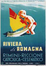TV51 Vintage A3 1940's Riviera Di Romagna Italy Italian Travel Poster