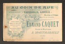 """MONTMARAULT (03) COMMERCE TAPISSERIE MEUBLE """"AU COIN DE RUE / Edmond CAQUET"""""""