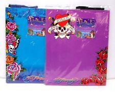 Ed Hardy Lisa Frank Dry Erase Board w Marker & 2 Magnets Flowers Skulls New