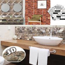 3D Self Adhesive Subway Sliver Tile Wall Sticker Kitchen Home DIY Bedroom Decor