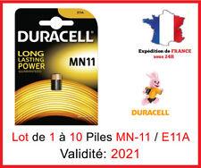 Lot de 1 à 10 Pile MN-11 / E-11-A / GP11A - DURACELL - 6V - DLC 2021