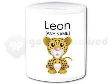 Personalised Ceramic Money Box- Leopard Cub Design
