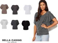 t-shirt maglietta donna maniche arrotolate bella + canvas maglia canotta