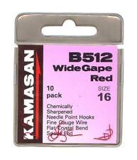 KAMASAN B512 RED BARBED SPADE END HOOK - COARSE FISHING RED HOOK
