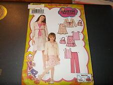 Simplicity Pattern 4669 Girls LIZZIE MGUIRE Top~Skirt~Pants~Jacket & Bag