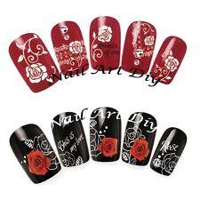 Nail Art Water Transfer Stickers-Adesivi Unghie Ricostruzione-Fiori con Pizzo!!!