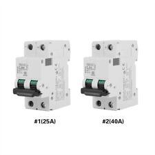 Miniature Circuit Breaker 2 Pole 250V DC Solar Energy Air Switch 25A/40A White