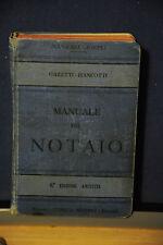 1908 -  MANUALE HOEPLI - MANUALE DEL NOTAIO