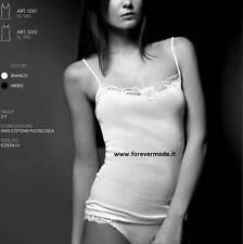 Damen Unterhemd MBV schmale Schulter aus Doppeldreheinschlag mit Profil aus
