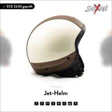 SOXON SP-301 Urban Creme Jet-Helm Chopper-Helm Roller Motorrad-Helm XS S M L XL