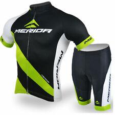 Merida Cycling Clothing Set Men's Reflective Cycling Jersey and Shorts Kit Green