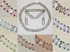 zss Zigzag Chain Beaded Necklace/Bracelet/Earrings Set - Silver