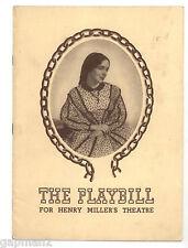 Harriet 1943 Playbill Henry Miller's Theatre NY Elia Kazan Helen Hayes