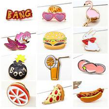 2X Creative Cartoon Animal Fruit Collar Pin Badge Corsage Kid Brooch -48 Pattern