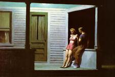Summer Evening Edward Hopper Couple Porch House Vintage Poster Repro FREE S/H