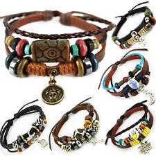 El tíbet serie 13! pulsera de cuero bracelet Leather unisex! pulsera de estilo surfista señores señora