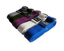 1 x Cotton Metal D-ring 250cm Yoga Belt / Strap - Ruth White Yoga - 5 Colours