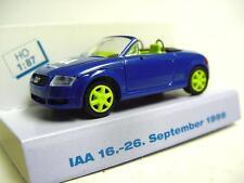 "1:87 RIETZE 1999 AUDI TT Roadster ""IAA 1999"" blue RARE & COLLECTIBLE MODEL CAR !"