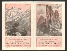 CHEMIN DE FER DE L'EST (SUISSE & ITALIE) TRACT PUBLICITAIRE illustré L'ENGADINE