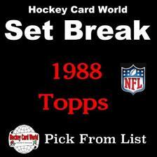 (HCW) 1988 Topps Football Cards Mint Set Break 1-200 - You Pick