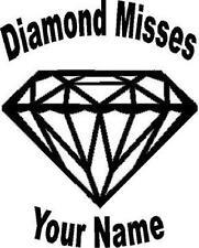 Custom Diamond with dance name vinyl decal/sticker truck car window classy bling