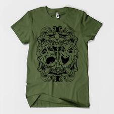Comedy Tragedy Theatre Masks Men's or Unisex T-shirt S M L XL 2XL 3XL
