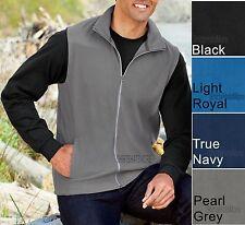 Mens Vest with Pockets Polar Microfleece Warm Sleeveless Jacket XS-2XL 3XL 4XL