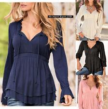 Maglia Donna Top Scollo V Autunno Woman Autumn Top T-shirt V Neck 561014