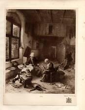 1929 PRINT ~ ADRIAEN VAN OSTADE ~ 1685 ~ A DUTCH FAMILY ~ KING'S COLLECTION