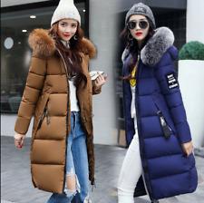 Winter jacket Women Down Jackets Fur Collar Warm Padded Cotton Coat Long Parka