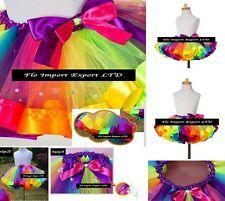Gonna Tutù Tulle Compleanno Strass Multicolor Bambina Girl Tutu Skirt SKIR010