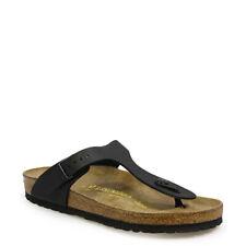 Birkenstock Gizeh Birko Flor Sandal Women Lady Black Leather Summer Shoes 43691