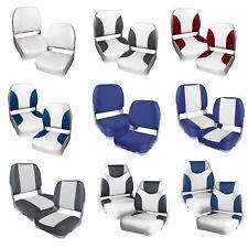 [pro.tec]® 2x Bootssitze Bootssitz Bootsstuhl Steuerstuhl Boot Sitze Kunst-Leder