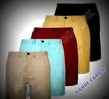 NEW Mens  Pierre Cardin Block Colour Dress Cotton Chino Short Bottoms Size S-XXL