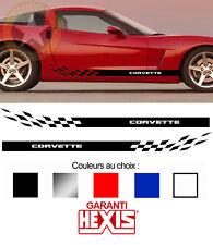 2 X BANDES BAS DE CAISSE POUR CHEVROLET CORVETTE AUTOCOLLANT STICKER BD424-14*