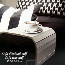 Sofatablett MDF Flexablage Tablett Ablage Armlehnen Sofa Ablage