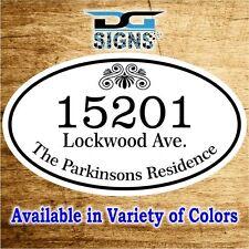3010 Personalized Home Address Decorative Custom Plaque 12 x 7 Aluminum Sign