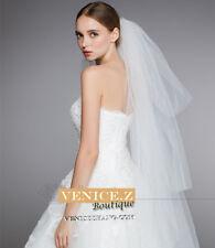 wv28 BNWT 3 tier Semi-stiff Bridal Wedding Veil Tulle Ivory White