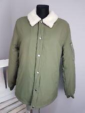 asos coach jacket with borg lining in khaki (AS-35/13)