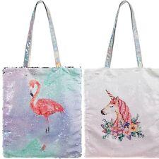 Large Magic Sequin Unicorn or Flamingo Shopper Bag Girls Ladies Gift
