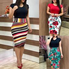 Elegant Slim Women's Business Office Dress Formal Bodycon Sheath Pencil Dresses