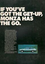 Opel Monza 3.0E 1978-79 UK Market Launch Foldout Sales Brochure